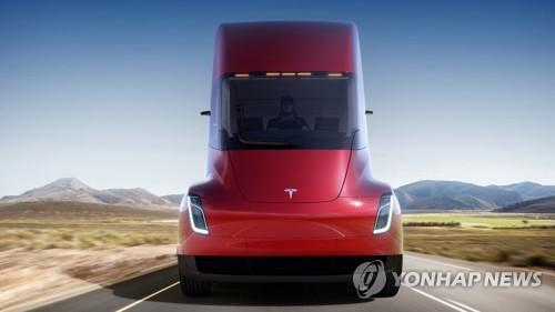 테슬라 전기트럭 '세미' 공개…로드스터 신형도 깜짝등장