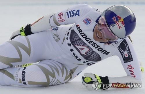 '스키 여제' 린지 본, 허리 통증…월드컵 슈퍼대회전 24위(종합)