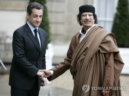 사르코지 전 프랑스 대통령, 리비아 검은돈 수수 혐의로 구금(종합)