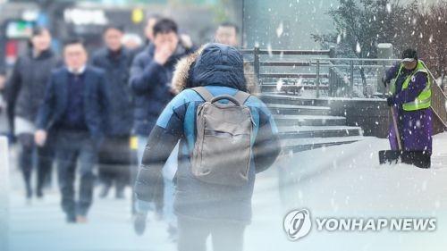 평창 등 6개 시·군 23일 대설 예비특보…2∼7㎝ 눈 내려
