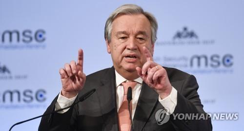 "UN 사무총장 ""북핵 평화적 해결 기회 놓치지 말아야"""