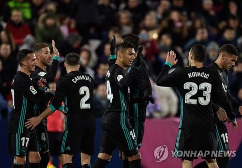'호날두 없어도' 레알, 레가네스 꺾고 3위 도약