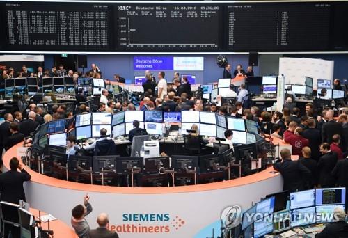 [유럽증시]미국 금리인상 앞두고 전날 낙폭 부분 회복…독일 0.74%↑