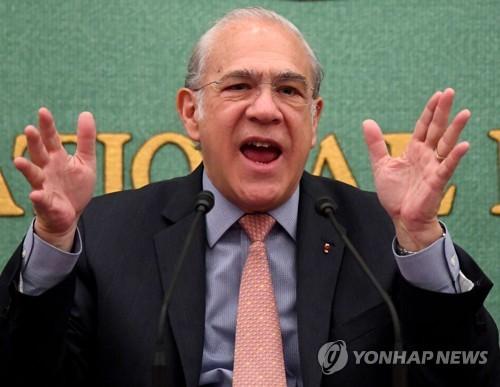 """OECD 사무총장 """"미·중, 무역긴장 완화 위해 막후 협상 중"""""""