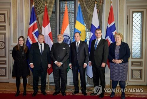 인도-북유럽 첫 정상회의…자유무역 강조