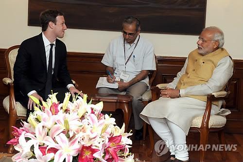 """인도 정부, 페이스북에 연일 강경 태도…""""인도법 규제 받아야"""""""