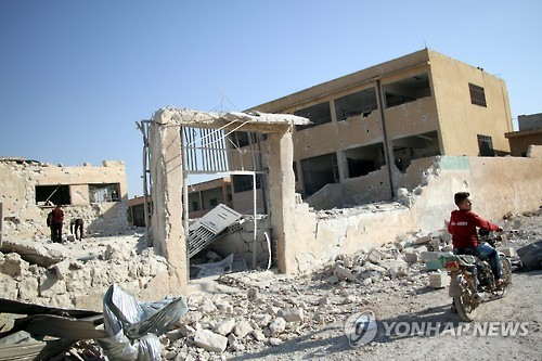 """반기문, 시리아 학교 공습에 """"고의라면 전쟁범죄…즉각 조사"""""""