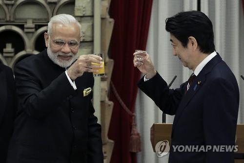 인도-일본, 中일대일로 대응 '아시아-아프리카 성장회랑' 추진