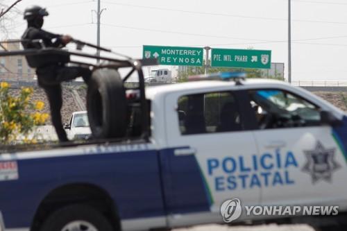 멕시코서 경찰-갱단 두 차례 심야 교전…경찰 6명 등 16명 사망