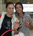لاعبات الجمباز الإيقاعي يصلن إلى البلاد