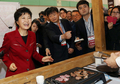 Park Geun-hye au Salon de l'emploi 4060