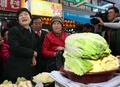 Park Geun-hye au marché traditionnel de Cheongju