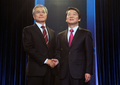 Moon et Ahn au débat télévisé
