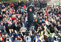 Ahn Cheol-soo devant le public