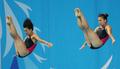 飛び込みで北朝鮮組が銅