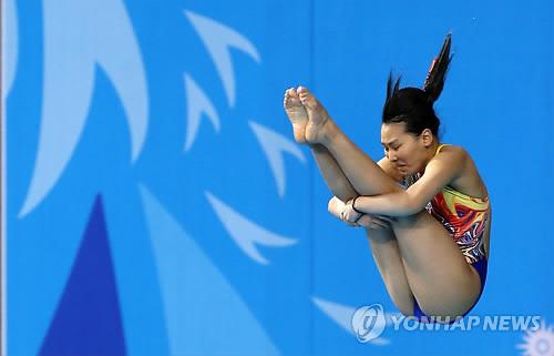 [전국체전 다이빙] 김수지, 맞수 김나미 0.1점 차로 제치고 우승