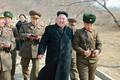 Kim Jong-un at frontline unit