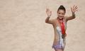 Son Yeon-jae wins 3 gold medals in rhythmic gymnastics