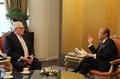 Hanwha chief meets former head of U.S. think tank