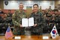 Korea-U.S. agreement on military training cooperation