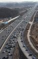Holiday traffic jam starts