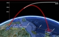 Trajectory of N. Korean rocket launch