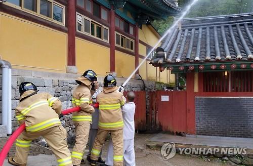 '부처님 오신 날' 인천지역 91개 사찰 소방점검