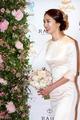 Park Jung-ah in wedding dress