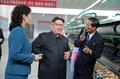 N.K. leader visits silk mill