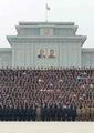 N.K. leader celebrates missile launch