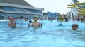 N. Korean children at water park