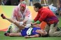 N. Korean marathoner in pain