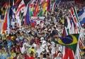 Athletes parade at Rio Olympics closing ceremony