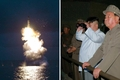 N.K. releases photos of missile test