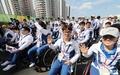 韩国残奥代表团入住选手村