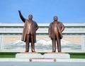 Statues of N. Korea's former leaders