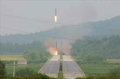 N.K.'s Kim inspects drill to launch ballistic missiles