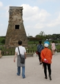 Tourists visit old astronomical observatory