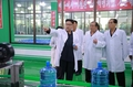 N.K.'s Kim visits mineral water plant