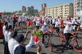 N.K. holds cycling march for reunification