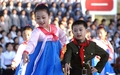 N.K. youths perform for revolutionary anniversary