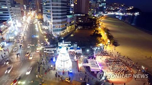 겨울 해운대 반짝반짝 빛축제 내달 1일 개막