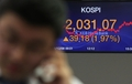 Stock market jumps over 2,000 line