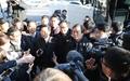 Conférence de presse devant Cheong Wa Dae