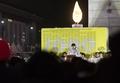 Messe sur la place de Gwanghwamun