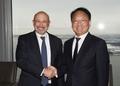 Avec le patron de Goldman Sachs