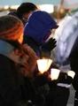 Los manifestantes en contra de Park salen pese al frío