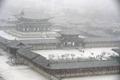 景福宮も雪化粧