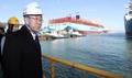 Ban Ki-moon au chantier naval DSME