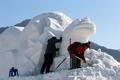 Préparation du Festival de pêche sur glace d'Inje